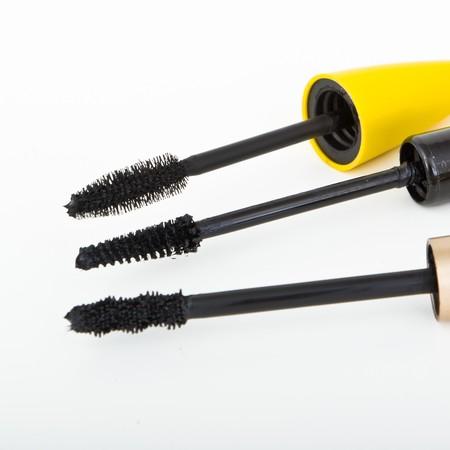 set of mascara brushes isolated photo