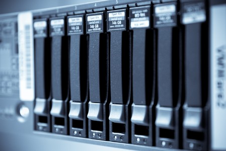 storage area with scsi hard drives Stock Photo - 8123575