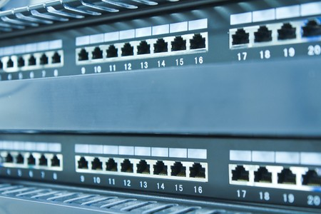 network hub without patch cables Stock Photo - 8123332
