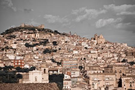 solidify: historic architecture of Agira, Sicily