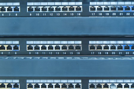 network hub without patch cables Stock Photo - 8204224
