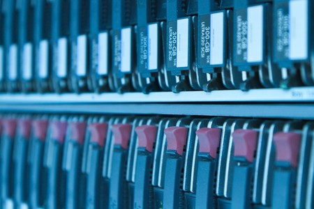storage area with scsi hard drives Stock Photo - 8204235