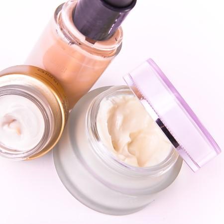 set of nourishing creams and makeup photo
