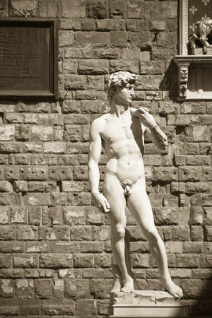 manhood: Davids Statue, Florence, Italy Stock Photo