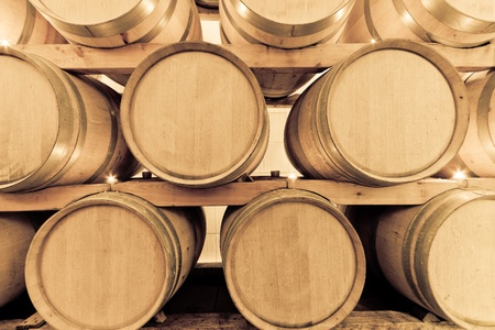 wine barrels in old wine cave Stock Photo - 8552533