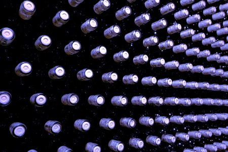 stacked up wine bottles in the cellar Stock Photo - 8552371