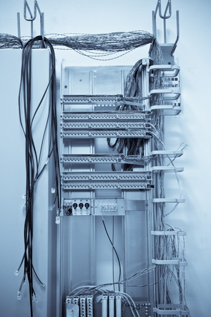 an old telephone switching center photo
