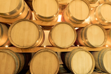 wine barrels in old wine cave Stock Photo - 8601363