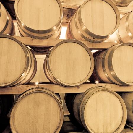 wine barrels in old wine cave Stock Photo - 8606900