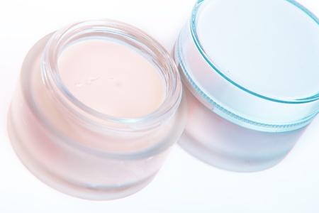 revitalizing: revitalizing creams on white background