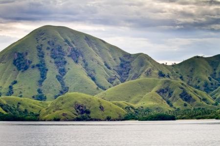 landscape of Komodo Island, Indonesia photo