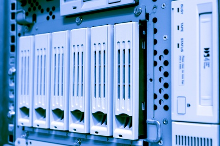 storage area with scsi hard drives photo