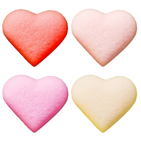 candy as valentine hearts photo