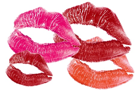 abstract lips print isolated Stock Photo - 8742656