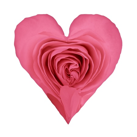 shaped: valentine heart shaped rose petals