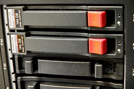 storage area with scsi hard drives photo