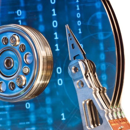 close up of hard disk with abstract reflection Stock Photo - 8962738