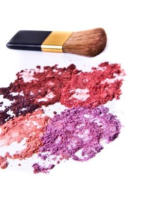 eyeshadow palette with brush on white background Stock Photo - 8962677