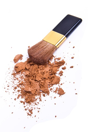 crushed eyeshadow isolated on white background Stock Photo - 8978282