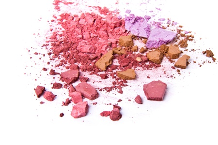 crushing: crushed eyeshadow isolated on white background