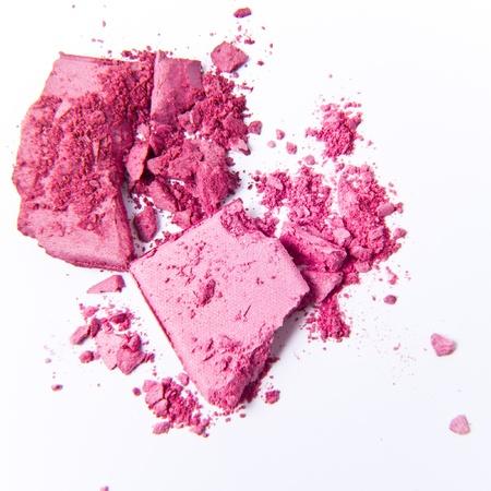 blush: crushed eyeshadow isolated on white background