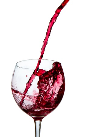 red wine poured into glass Stock Photo - 9121355