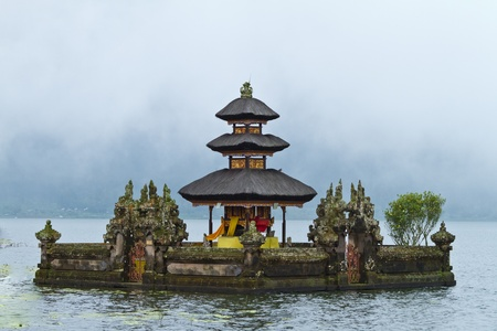 water hindu temple Pura Ulun Danu Bratan, Bali, Indonesia photo