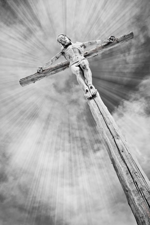 Crucifixion - Jesus on the cross Stock Photo - 9170569