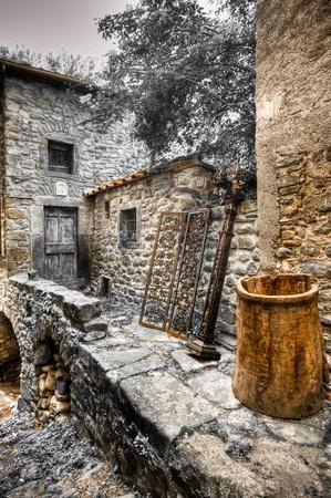typical: Verrucola castla in Borga, Tuscany, Italy