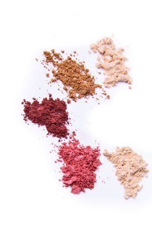 crushed eyeshadow isolated on white background Stock Photo - 9261921