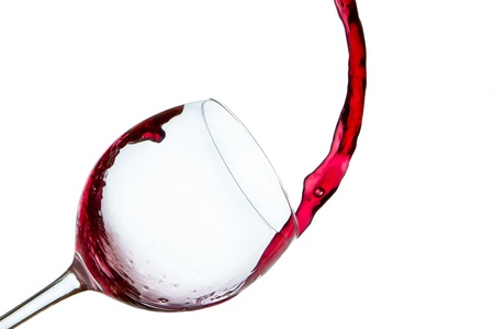 red wine poured into glass Stock Photo - 9289716