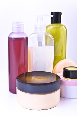 nourishing: nourishing cream and lotion set Stock Photo