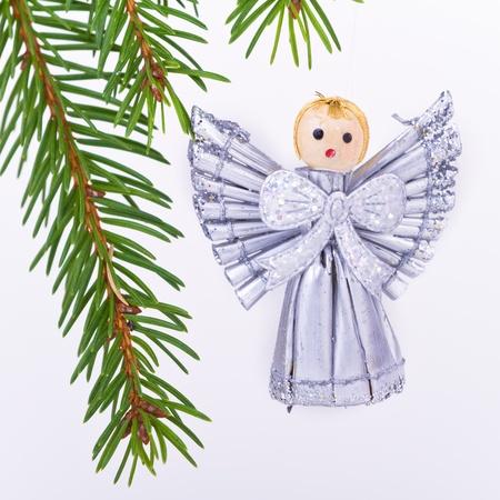 decoration on Christmas tree isolated photo