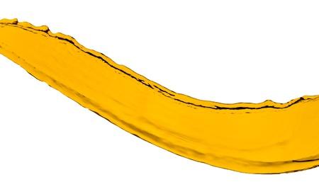 orange juice splash isolated on white background photo
