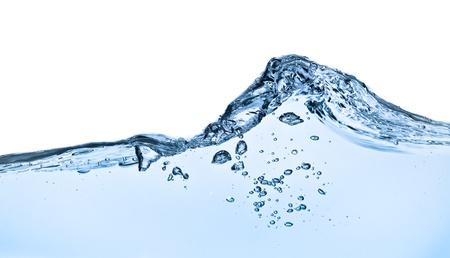 viscosity: splashing water with bubbles shot on white background Stock Photo
