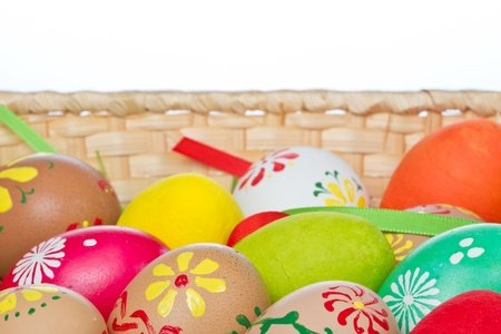 easter eggs collection in a basket Stock Photo - 11237535