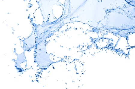 splash water: water splash isolated on white background