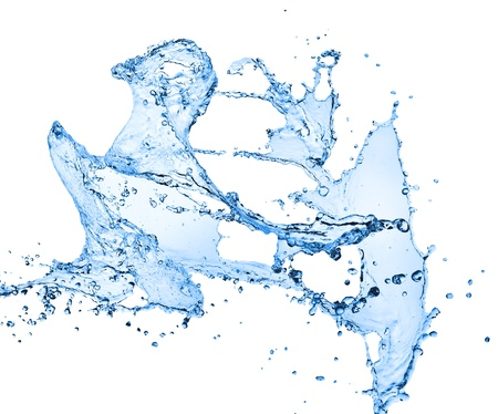 water splash isolated on white background Stock Photo - 11947344