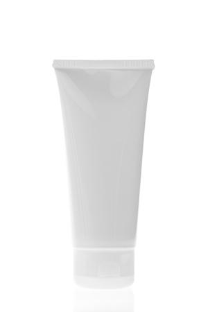 shampoo bottle: set of cosmetic bottles isolated on white background