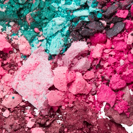 set of crushed eyeshadows as a background photo