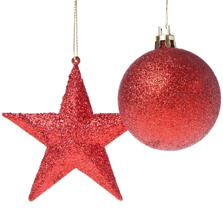 christmas ball with star isoalted on white background Stock Photo - 12396907