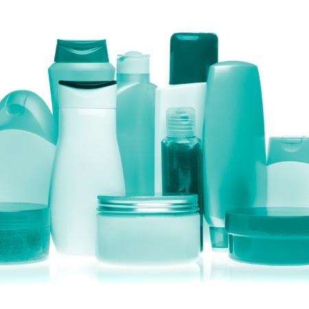 set of cosmetic bottles isolated on white background Stock Photo - 12653468
