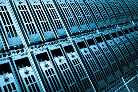 drives in information: Data center with hard drives