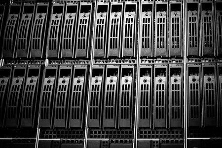 Data center with hard drives Stock Photo - 12653259