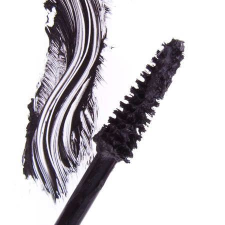 black mascara stroke isolated on white background Stock Photo - 12727960