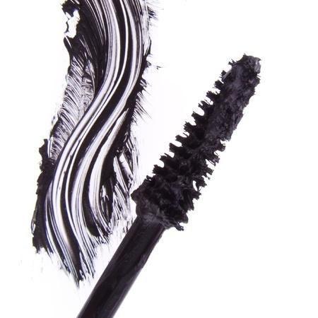 black mascara stroke isolated on white background Stock Photo - 12727960