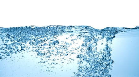 closeup of bubbles in water isolated on white background Stock Photo - 12809201