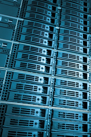 Data center with hard drives Stock Photo - 12816727