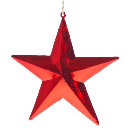 estrellas de navidad: roja estrella de navidad isoalted sobre fondo blanco