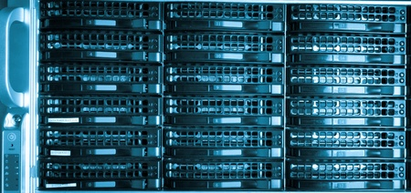 Data center with hard drives Stock Photo - 12913837